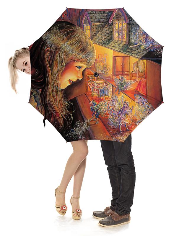 Зонт-трость с деревянной ручкой Printio Fantasy design грабли с деревянной ручкой 1500 мм truper r 16m 17880