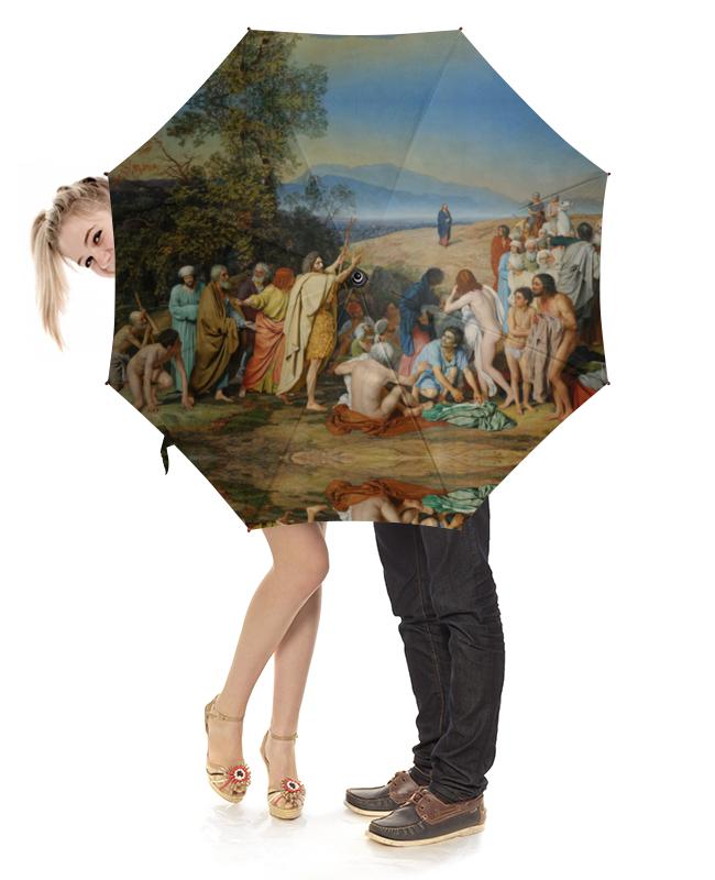Зонт-трость с деревянной ручкой Printio Явление христа народу