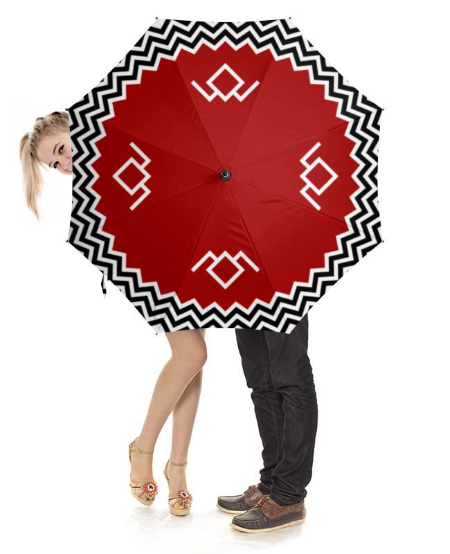 Зонт-трость  деревянной ручкой Printio Твин пикс