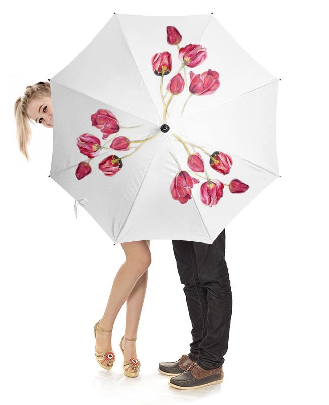 Зонт-трость с деревянной ручкой Printio Зонт тюльпаны зонт tous зонт