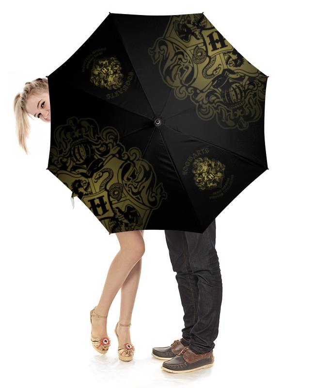 Зонт-трость с деревянной ручкой Printio Хогвартс зонт eleganzza зонт