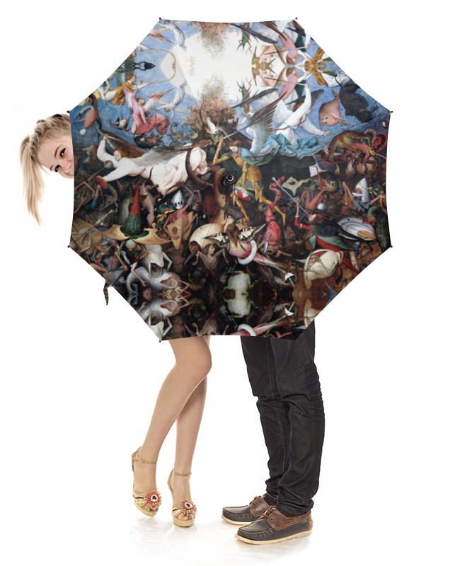 Зонт-трость с деревянной ручкой Printio Падение мятежных ангелов (питер брейгель) торт printio триумф смерти питер брейгель старший