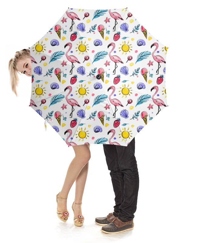 Зонт-трость с деревянной ручкой Printio Розовый фламинго hose hugger max 3 x 34