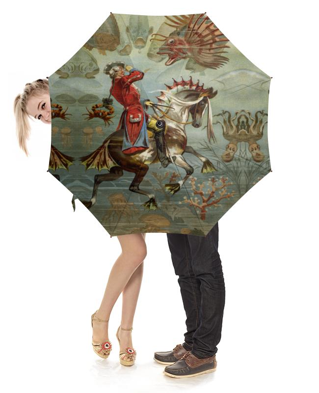 Зонт-трость с деревянной ручкой Printio Барон мюнхгаузен коллективные сборники сказки немецких писателей барон мюнхгаузен