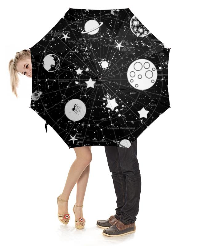 Зонт-трость с деревянной ручкой Printio Карта звездного неба псарева н ред атлас звездного неба с наклейками 45 наклеек