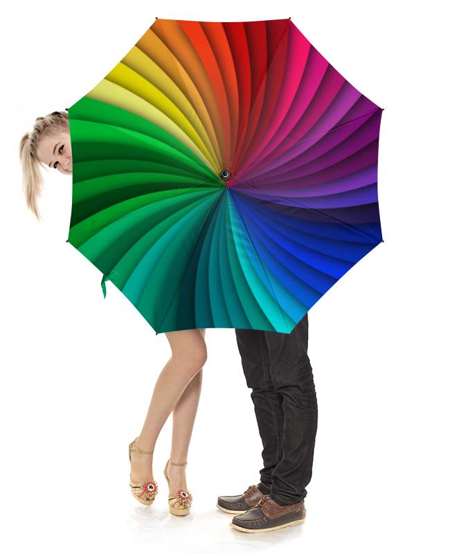 Зонт-трость с деревянной ручкой Printio Палитра зонт трость с деревянной ручкой printio цвета