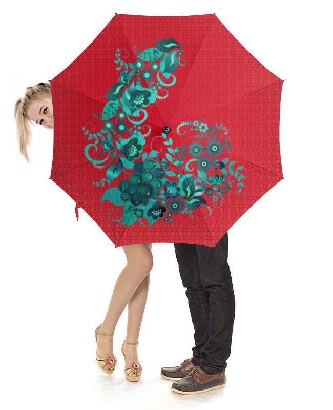 Зонт-трость с деревянной ручкой Printio Цветочный узор зонт трость с деревянной ручкой printio цветочный бум