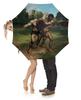 """Зонт-трость с деревянной ручкой """"Борцы (Гюстав Курбе)"""" - картина, курбе"""