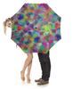 """Зонт-трость с деревянной ручкой """"Геометрический орнамент Гексагон"""" - орнамент, подарок, абстракция, геометрия"""