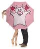 """Зонт-трость с деревянной ручкой """"Розовый поросёнок с бенгальскими огнями"""" - арт, счастье, свин, розовый поросенок, бенгальский огонь"""