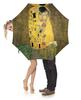 """Зонт-трость с деревянной ручкой """"Поцелуй (картина Климта)"""" - картина, климт"""