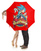 """Зонт-трость с деревянной ручкой """"Sonic the Hedgehog"""" - игра, соник"""