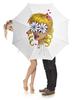 """Зонт-трость с деревянной ручкой """"Без ума от цветов"""" - любовь, девушка, цветы, сердца, блондинка"""