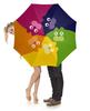 """Зонт-трость с деревянной ручкой """"Happy Cats"""" - юмор, кошки, коты, домашние животные, арт дизайн"""
