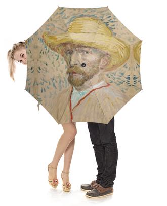 """Зонт-трость с деревянной ручкой """"Винсент ван Гог (автопортрет)"""" - картина, ван гог, живопись"""