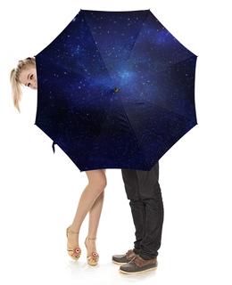 """Зонт-трость с деревянной ручкой """"Вселенная"""" - звезды, вселенная, в космосе, the spaceway"""