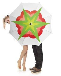 """Зонт-трость с деревянной ручкой """"RestoRaids белый"""" - зонт, umbrella, restoraids"""