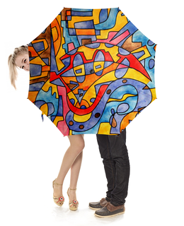 """Зонт-трость с деревянной ручкой """"MX0`]MM02Y"""" - арт, узор, абстракция, фигуры, текстура"""