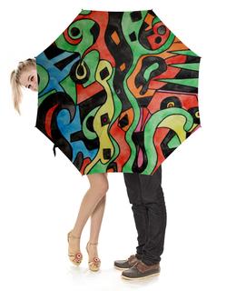 """Зонт-трость с деревянной ручкой """"g1d1d`,p1c"""" - арт, узор, абстракция, фигуры, текстура"""