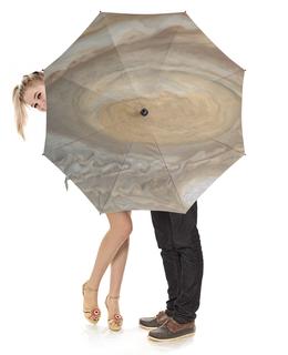 """Зонт-трость с деревянной ручкой """"Юпитер"""" - звезды, космос, вселенная, юпитер"""