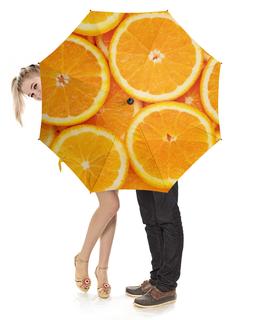 """Зонт-трость с деревянной ручкой """"Апельсины"""" - еда, апельсины"""
