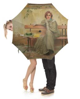 """Зонт-трость с деревянной ручкой """"Мечты (Витторио Коркос)"""" - картина, коркос"""
