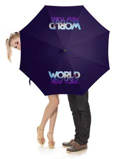 """Зонт-трость с деревянной ручкой """"World New York"""" - new york, city"""