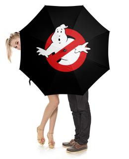 "Зонт-трость с деревянной ручкой ""Зонт GhostBusters"" - зонт, ghost, ghostbusters, busters"