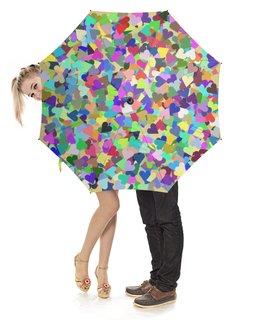 """Зонт-трость с деревянной ручкой """"Орнамент Тысяча сердечек"""" - праздник, любовь, орнамент, подарок, абстракция"""