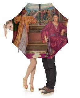 """Зонт-трость с деревянной ручкой """"Золотая клетка (Эвелин де Морган)"""" - картина, морган"""