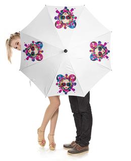 """Зонт-трость с деревянной ручкой """"Дискотека"""" - музыка, праздник, танцы, дискотека"""