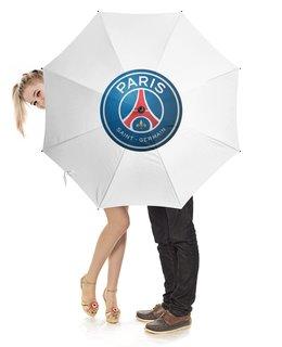 """Зонт-трость с деревянной ручкой """"От дождя и солнца"""" - футбол, париж, псж, пари сен-жермен, psg"""