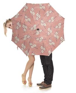 """Зонт-трость с деревянной ручкой """"Ветки цветущей вишни"""" - ветка"""