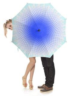 """Зонт-трость с деревянной ручкой """"Зонтик Капельки дождя"""" - девушка, орнамент, природа, абстракция"""
