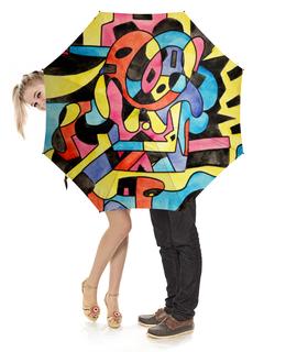 """Зонт-трость с деревянной ручкой """"ttt`12ll"""" - арт, узор, абстракция, фигуры, текстура"""
