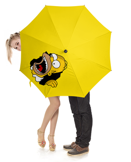 """Зонт-трость с деревянной ручкой """"Гомер Симпсон"""" - simpsons"""