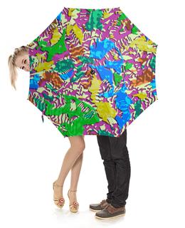 """Зонт-трость с деревянной ручкой """"Camouflage 3D"""" - абстракция, 3d, камуфляж, милитари, иллюзия"""