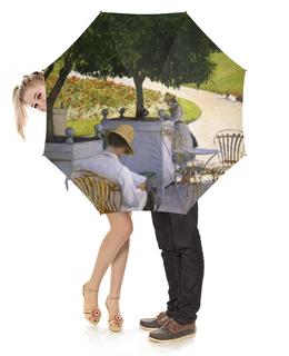 """Зонт-трость с деревянной ручкой """"Апельсиновые деревья (Гюстав Кайботт)"""" - картина, живопись, кайботт"""