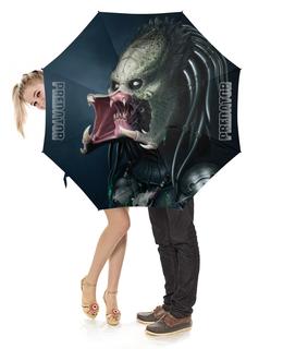 """Зонт-трость с деревянной ручкой """"PREDATOR Design"""" - хищник, монстр, инопланетянин, пришелец, predator"""