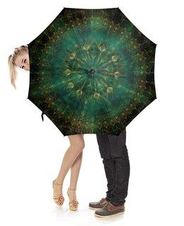 """Зонт-трость с деревянной ручкой """"Mandala Ambrella"""" - mandala, complexity, digital"""