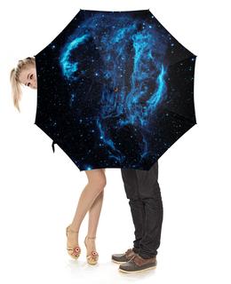 """Зонт-трость с деревянной ручкой """"Space"""" - звезды, космос, вселенная"""