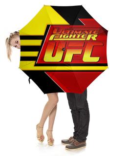 """Зонт-трость с деревянной ручкой """"Ultimate Fighting Championship"""" - спорт, бои, чемпионат, единоборство, спортивная организация"""