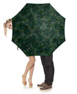 """Зонт-трость с деревянной ручкой """"Tropical"""" - лето, подарок, тропический, джунгли"""