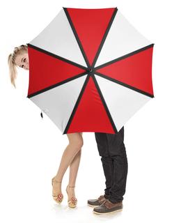 """Зонт-трость с деревянной ручкой """"Umbrella"""" - resident evil, umbrella"""