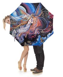 """Зонт-трость с деревянной ручкой """"Fantasy Design"""" - любовь, море, космос, фэнтези, корабли"""