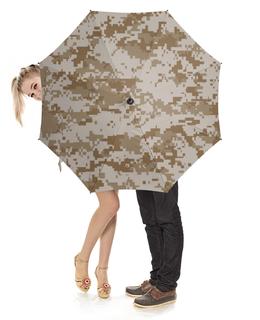 """Зонт-трость с деревянной ручкой """"Камуфляж"""" - армия, army, камуфляж, camouflage, арт дизайн"""