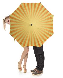 """Зонт-трость с деревянной ручкой """"Шапито """" - солнце, осень, полосы, зонт, цирк"""