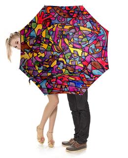 """Зонт-трость с деревянной ручкой """"rrg`90`90=-="""" - арт, узор, абстракция, фигуры, текстура"""