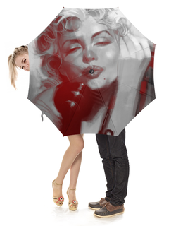 """Зонт-трость с деревянной ручкой """"Мадонна"""" - музыка, поп, мадонна, фан"""