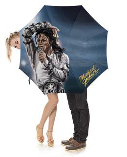 """Зонт-трость с деревянной ручкой """"Michael Jackson Design"""" - майкл джексон, попса, король, музыка, поп"""
